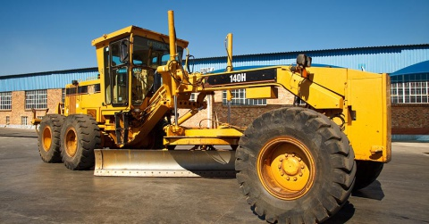 A secondhand 140H Caterpillar Motor Grader.