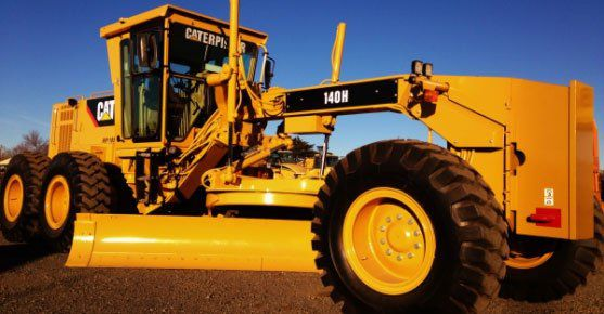 Cat 140H grader after being rebuilt by KH Plant in South Africa